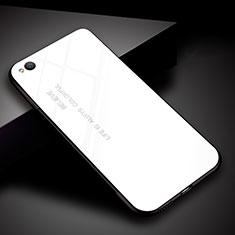 Silikon Schutzhülle Rahmen Tasche Hülle Spiegel Farbverlauf Regenbogen für Xiaomi Redmi Go Weiß