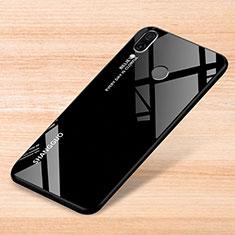 Silikon Schutzhülle Rahmen Tasche Hülle Spiegel Farbverlauf Regenbogen für Xiaomi Redmi Note 7 Schwarz