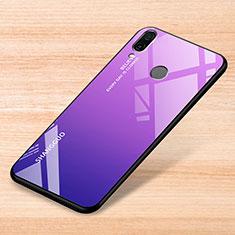 Silikon Schutzhülle Rahmen Tasche Hülle Spiegel Farbverlauf Regenbogen für Xiaomi Redmi Note 7 Violett