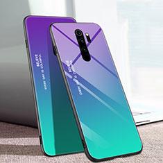 Silikon Schutzhülle Rahmen Tasche Hülle Spiegel Farbverlauf Regenbogen für Xiaomi Redmi Note 8 Pro Plusfarbig