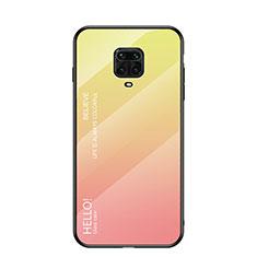 Silikon Schutzhülle Rahmen Tasche Hülle Spiegel Farbverlauf Regenbogen für Xiaomi Redmi Note 9 Pro Gelb