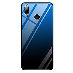 Silikon Schutzhülle Rahmen Tasche Hülle Spiegel Farbverlauf Regenbogen G01 für Huawei Honor Play Blau und Schwarz