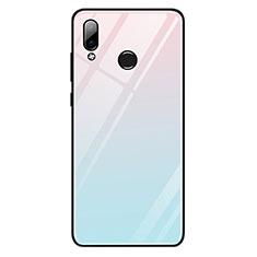 Silikon Schutzhülle Rahmen Tasche Hülle Spiegel Farbverlauf Regenbogen G01 für Huawei Honor Play Hellblau