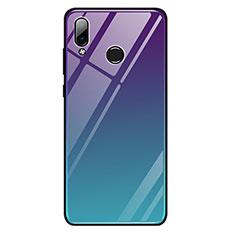Silikon Schutzhülle Rahmen Tasche Hülle Spiegel Farbverlauf Regenbogen G01 für Huawei Honor Play Plusfarbig