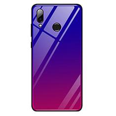 Silikon Schutzhülle Rahmen Tasche Hülle Spiegel Farbverlauf Regenbogen G01 für Huawei Honor Play Rot