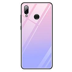 Silikon Schutzhülle Rahmen Tasche Hülle Spiegel Farbverlauf Regenbogen G01 für Huawei Honor Play Violett