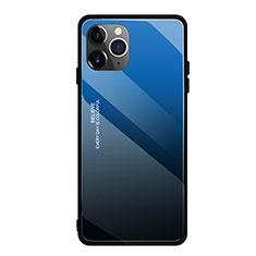 Silikon Schutzhülle Rahmen Tasche Hülle Spiegel Farbverlauf Regenbogen H01 für Apple iPhone 11 Pro Max Blau