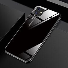 Silikon Schutzhülle Rahmen Tasche Hülle Spiegel Farbverlauf Regenbogen H01 für Apple iPhone 11 Schwarz