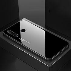 Silikon Schutzhülle Rahmen Tasche Hülle Spiegel Farbverlauf Regenbogen H01 für Huawei Honor 20 Lite Schwarz