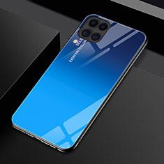 Silikon Schutzhülle Rahmen Tasche Hülle Spiegel Farbverlauf Regenbogen H01 für Huawei P40 Lite Blau