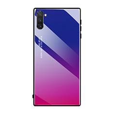 Silikon Schutzhülle Rahmen Tasche Hülle Spiegel Farbverlauf Regenbogen H01 für Samsung Galaxy Note 10 5G Pink