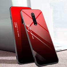 Silikon Schutzhülle Rahmen Tasche Hülle Spiegel Farbverlauf Regenbogen H01 für Xiaomi Mi 9T Pro Rot