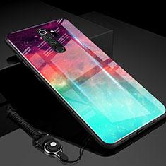 Silikon Schutzhülle Rahmen Tasche Hülle Spiegel Farbverlauf Regenbogen H01 für Xiaomi Redmi Note 8 Pro Grün