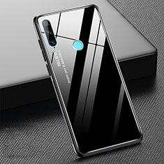 Silikon Schutzhülle Rahmen Tasche Hülle Spiegel Farbverlauf Regenbogen H02 für Huawei Honor 20 Lite Schwarz