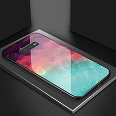 Silikon Schutzhülle Rahmen Tasche Hülle Spiegel Farbverlauf Regenbogen H03 für Samsung Galaxy S10e Rot