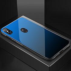 Silikon Schutzhülle Rahmen Tasche Hülle Spiegel Farbverlauf Regenbogen M01 für Xiaomi Mi 8 Blau