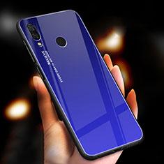 Silikon Schutzhülle Rahmen Tasche Hülle Spiegel Farbverlauf Regenbogen M01 für Xiaomi Redmi Note 7 Pro Blau