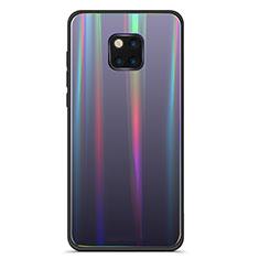 Silikon Schutzhülle Rahmen Tasche Hülle Spiegel Farbverlauf Regenbogen M02 für Huawei Mate 20 Pro Schwarz