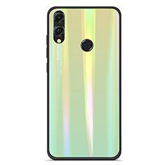 Silikon Schutzhülle Rahmen Tasche Hülle Spiegel Farbverlauf Regenbogen R01 für Huawei Honor View 10 Lite Grün