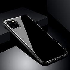 Silikon Schutzhülle Rahmen Tasche Hülle Spiegel für Apple iPhone 11 Pro Max Schwarz