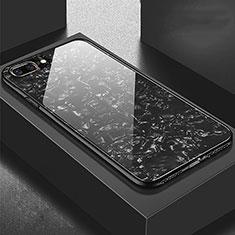 Silikon Schutzhülle Rahmen Tasche Hülle Spiegel für Apple iPhone 8 Plus Schwarz