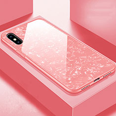 Silikon Schutzhülle Rahmen Tasche Hülle Spiegel für Apple iPhone Xs Rosegold
