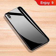Silikon Schutzhülle Rahmen Tasche Hülle Spiegel für Huawei Enjoy 9 Schwarz