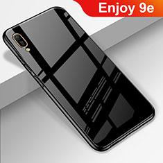 Silikon Schutzhülle Rahmen Tasche Hülle Spiegel für Huawei Enjoy 9e Schwarz