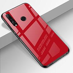 Silikon Schutzhülle Rahmen Tasche Hülle Spiegel für Huawei Enjoy 9s Rot