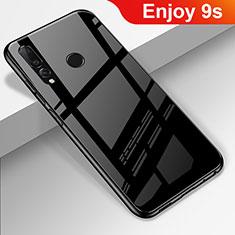 Silikon Schutzhülle Rahmen Tasche Hülle Spiegel für Huawei Enjoy 9s Schwarz