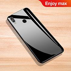 Silikon Schutzhülle Rahmen Tasche Hülle Spiegel für Huawei Enjoy Max Schwarz