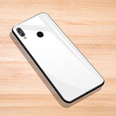 Silikon Schutzhülle Rahmen Tasche Hülle Spiegel für Huawei Enjoy Max Weiß