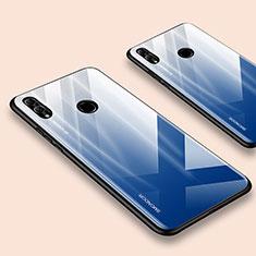 Silikon Schutzhülle Rahmen Tasche Hülle Spiegel für Huawei Honor 10 Lite Blau