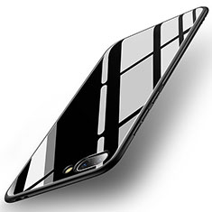 Silikon Schutzhülle Rahmen Tasche Hülle Spiegel für Huawei Honor 10 Schwarz