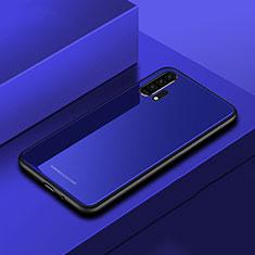 Silikon Schutzhülle Rahmen Tasche Hülle Spiegel für Huawei Honor 20 Pro Blau