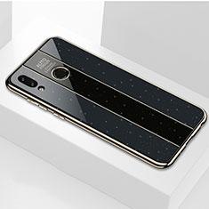 Silikon Schutzhülle Rahmen Tasche Hülle Spiegel für Huawei Honor 8X Schwarz