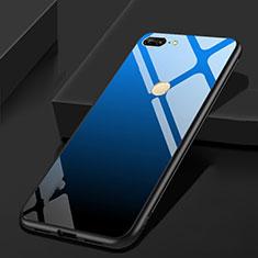 Silikon Schutzhülle Rahmen Tasche Hülle Spiegel für Huawei Honor 9 Lite Blau und Schwarz