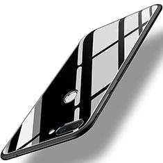 Silikon Schutzhülle Rahmen Tasche Hülle Spiegel für Huawei Honor 9i Schwarz
