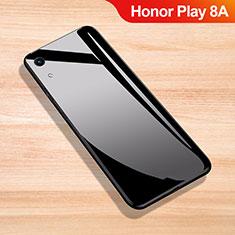 Silikon Schutzhülle Rahmen Tasche Hülle Spiegel für Huawei Honor Play 8A Schwarz