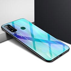 Silikon Schutzhülle Rahmen Tasche Hülle Spiegel für Huawei Honor Play4T Cyan