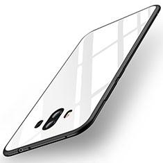 Silikon Schutzhülle Rahmen Tasche Hülle Spiegel für Huawei Mate 10 Weiß