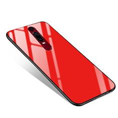 Silikon Schutzhülle Rahmen Tasche Hülle Spiegel für Huawei Mate RS Rot