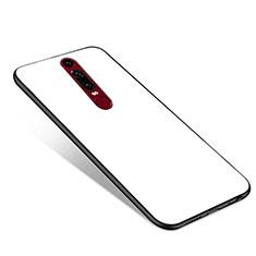 Silikon Schutzhülle Rahmen Tasche Hülle Spiegel für Huawei Mate RS Weiß