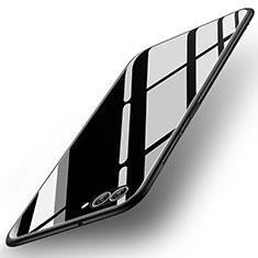 Silikon Schutzhülle Rahmen Tasche Hülle Spiegel für Huawei Nova 2S Schwarz