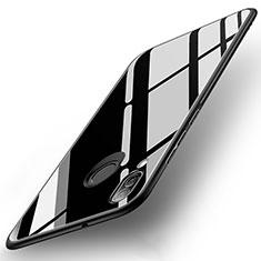 Silikon Schutzhülle Rahmen Tasche Hülle Spiegel für Huawei Nova 3e Schwarz