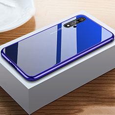 Silikon Schutzhülle Rahmen Tasche Hülle Spiegel für Huawei Nova 5T Blau