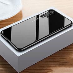 Silikon Schutzhülle Rahmen Tasche Hülle Spiegel für Huawei Nova 5T Schwarz