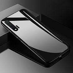 Silikon Schutzhülle Rahmen Tasche Hülle Spiegel für Huawei Nova 6 5G Schwarz