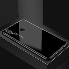 Silikon Schutzhülle Rahmen Tasche Hülle Spiegel für Huawei P Smart (2019) Schwarz