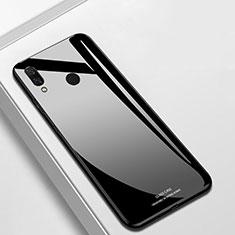 Silikon Schutzhülle Rahmen Tasche Hülle Spiegel für Huawei P Smart+ Plus Schwarz
